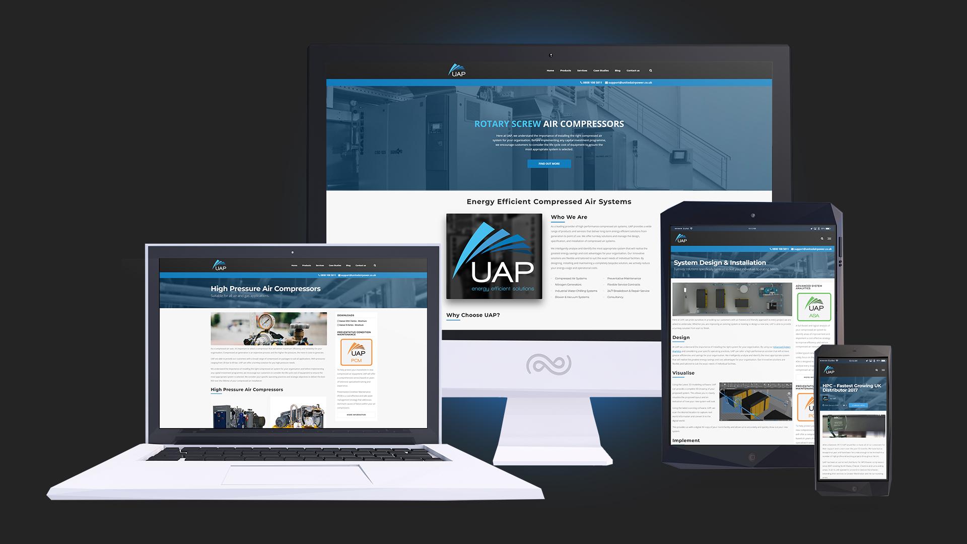 UAP's website redesign